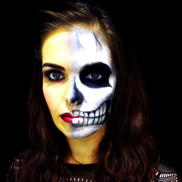 El vídeo la máscara para la persona del almidón