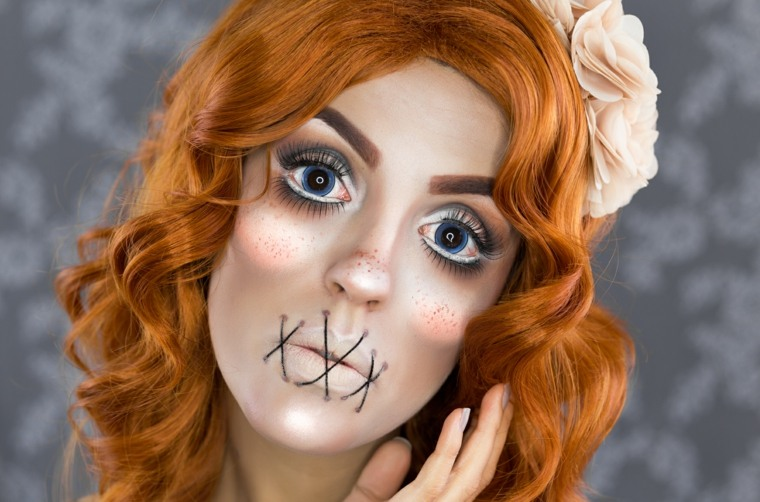 maquillaje para halloween muñeca