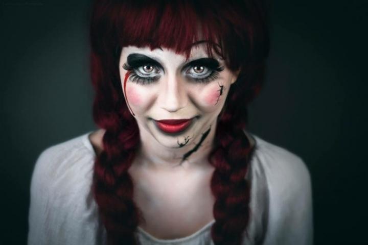Maquillaje para halloween de miedo
