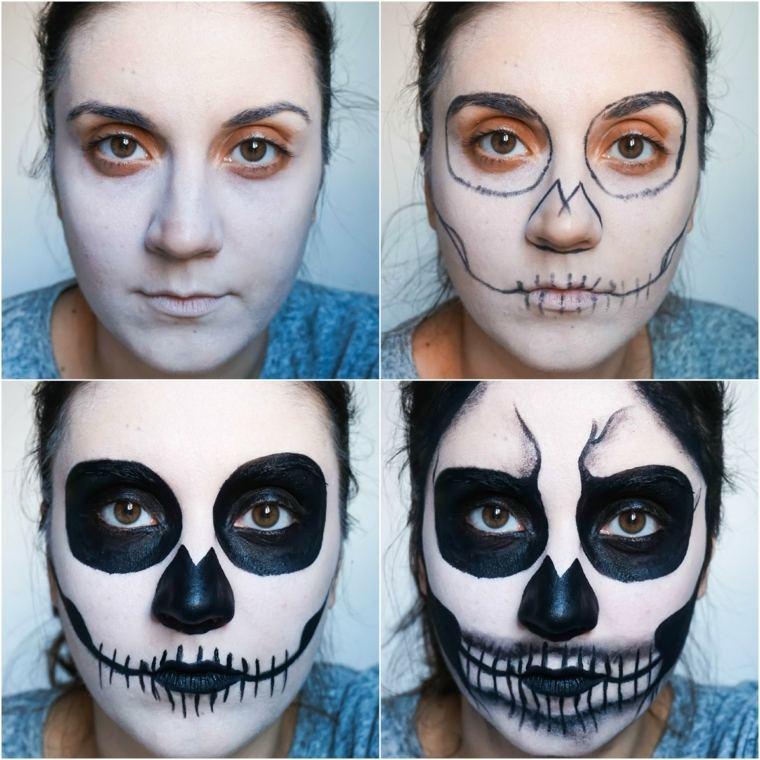 maquillaje para halloween paso a paso