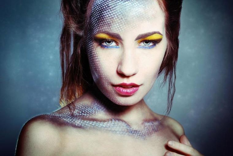 maquillaje para halloween sirena