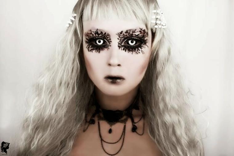 maquillaje cara ojos dibujos