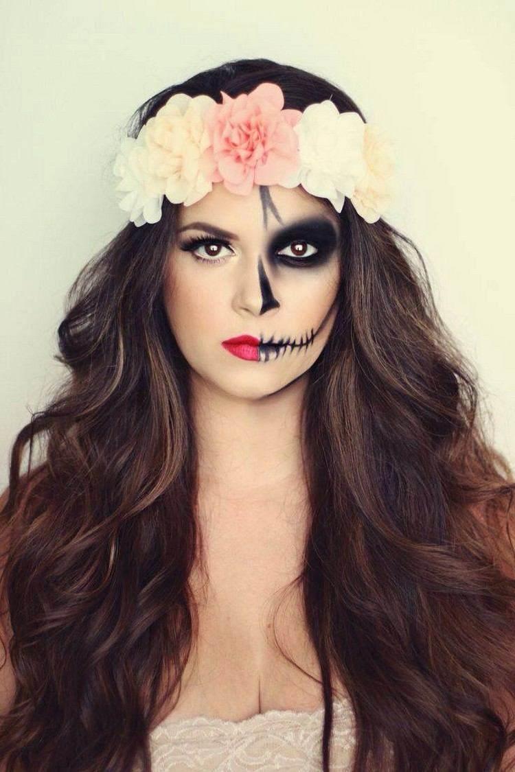 maquillajes craneo bodas efectos mujer