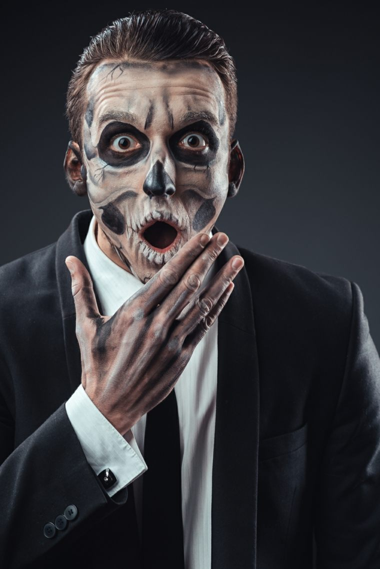 Maquillajes De Halloween 28 Ideas Para Hombres Y Mujeres - Maquillaje-zombie-hombre