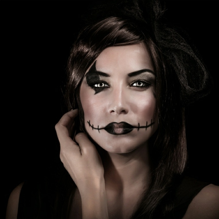 maquillajes de Halloween opciones simples disenos ideas