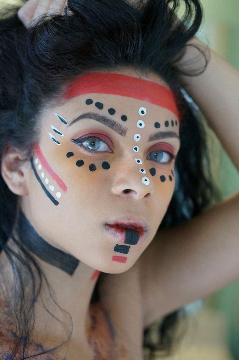 maquillajes de Halloween opciones diseno india ideas