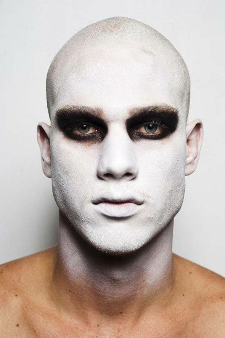 maquillajes Halloween opciones hombres blanco negro ideas