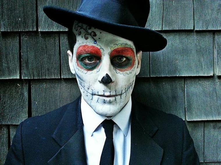 maquillajes de Halloween opciones mascaras payaso ideas