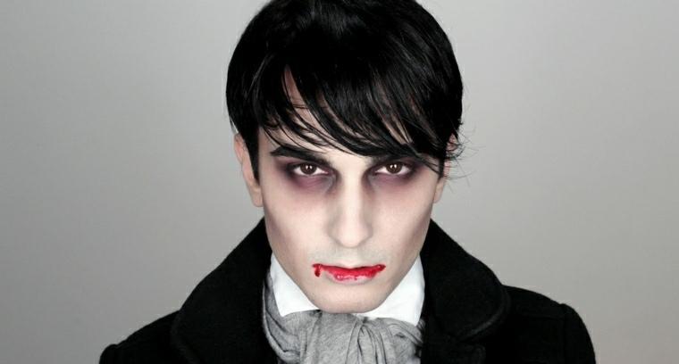 maquillajes Halloween opciones vampiro hombre ideas
