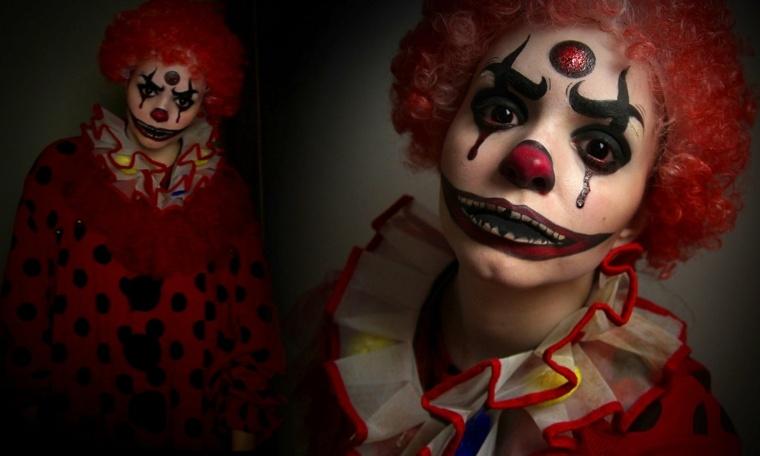 maquillajes de halloween payaso