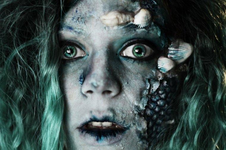 maquillajes de halloween sirena