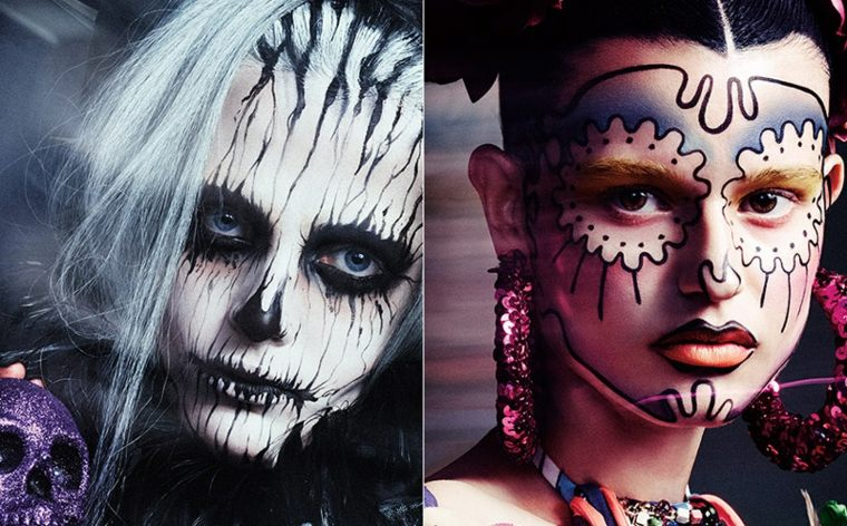 maquillarse para halloween dos caras