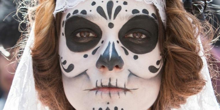 maquillarse para halloween esqueleto