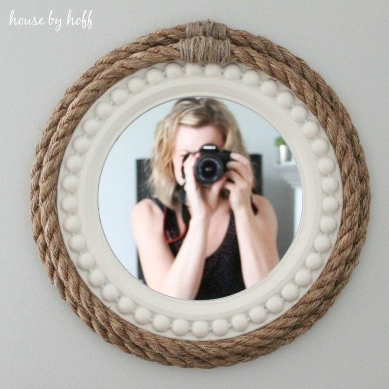 marco espejo decorado cuerdas