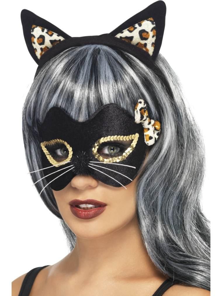 máscaras de halloween gato