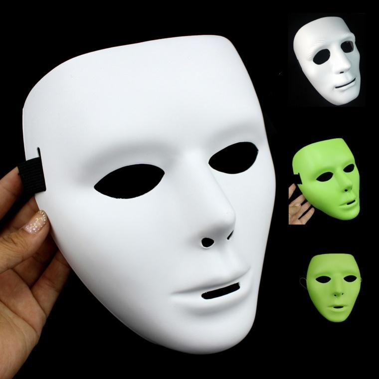 máscaras de halloween blancas