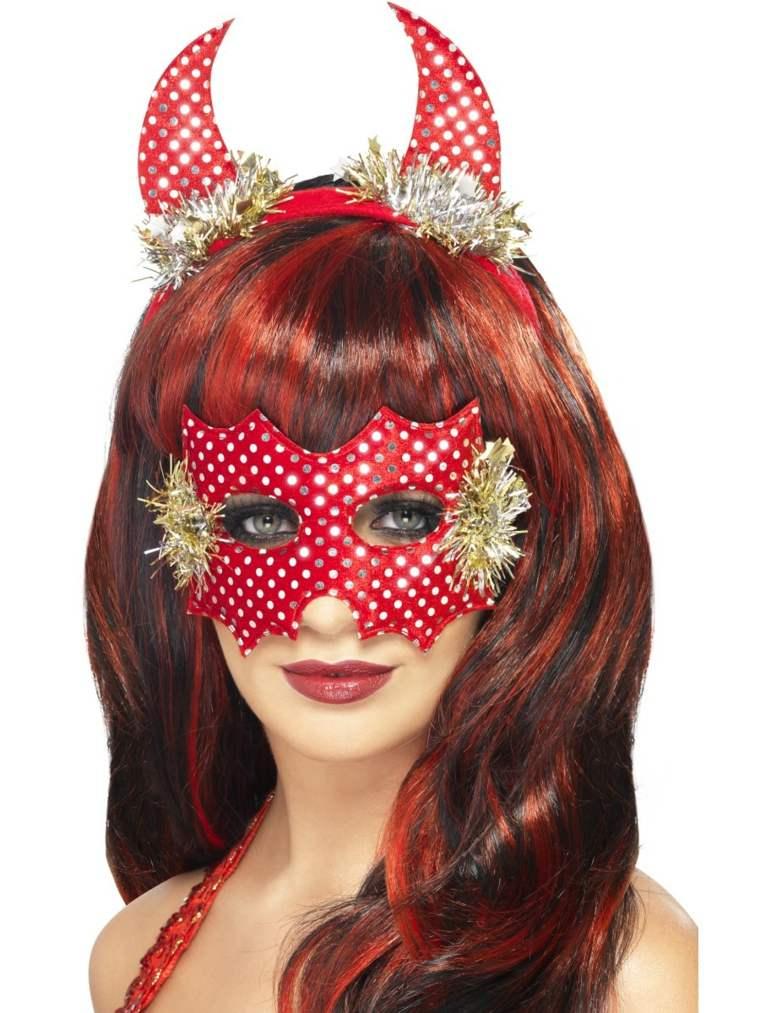 máscaras de halloween diabla