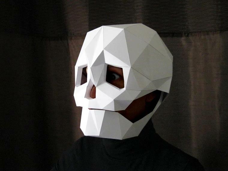 máscaras de halloween esqueleto