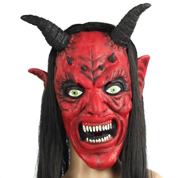 máscaras de terror para halloween diablo