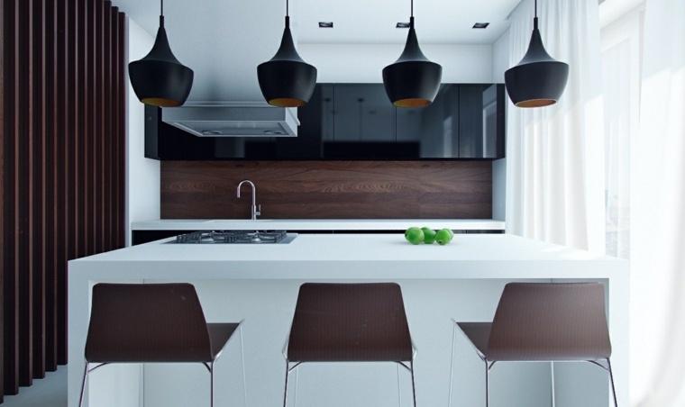 materiales madera estilos atractivos negro