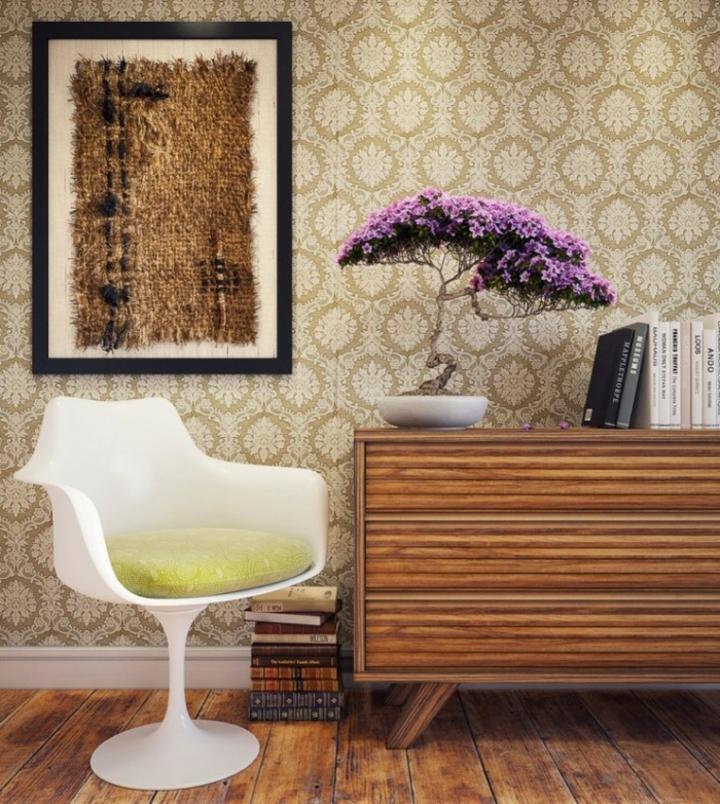 materiales organicos enmarcados conceptos flores