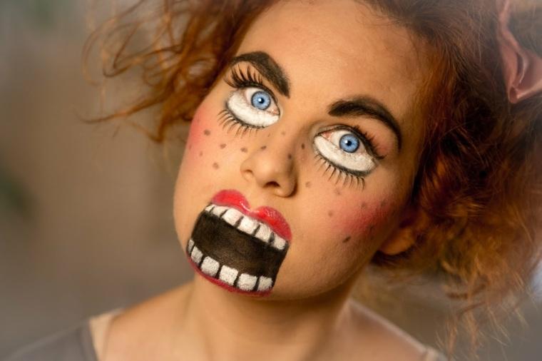 maquillaje cara muñeca Halloween