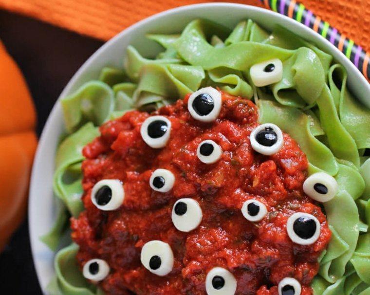 menú para halloween pasta