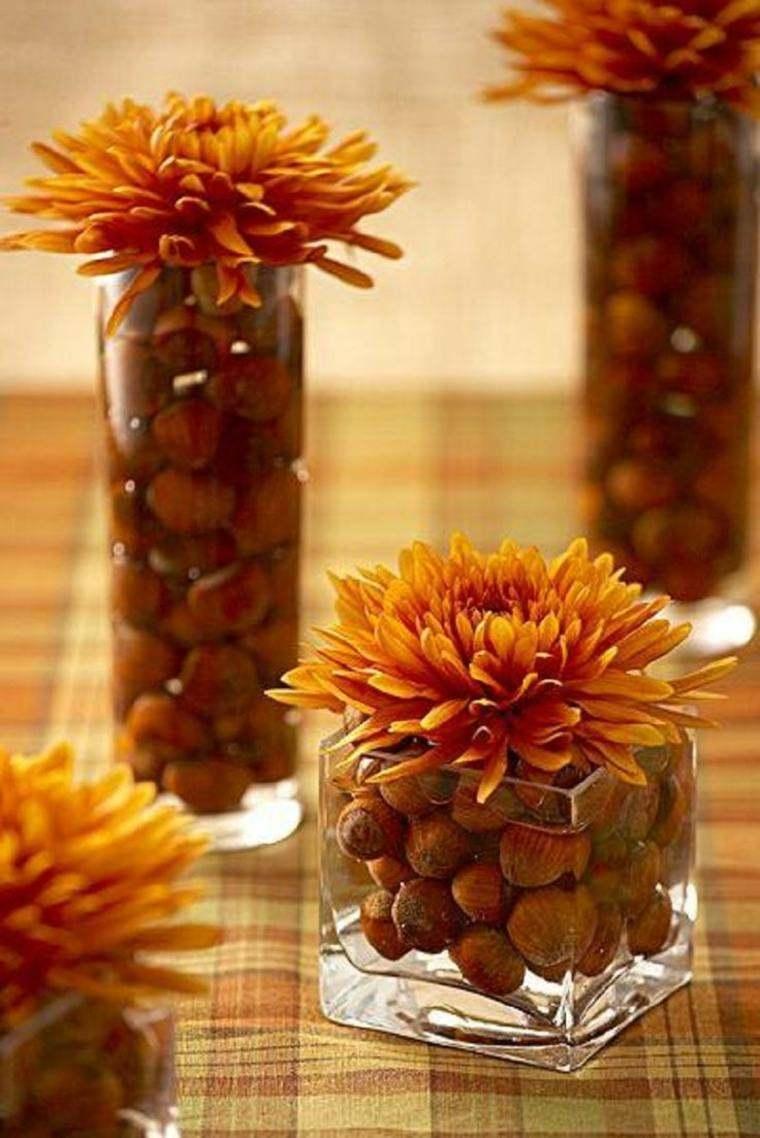 mesa decoracion otono flores toques naturalidad original