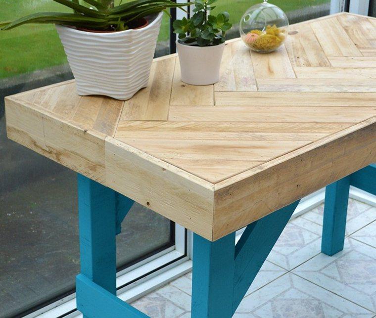 mesa jardín madera natural