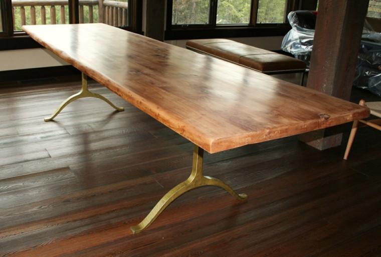 mesas de madera acento rustico comedor contemporaneo ideas
