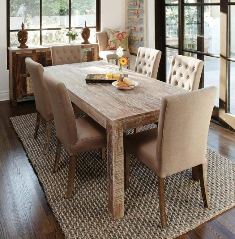 Mesas de madera un acento r stico para el comedor - Mesas madera diseno ...