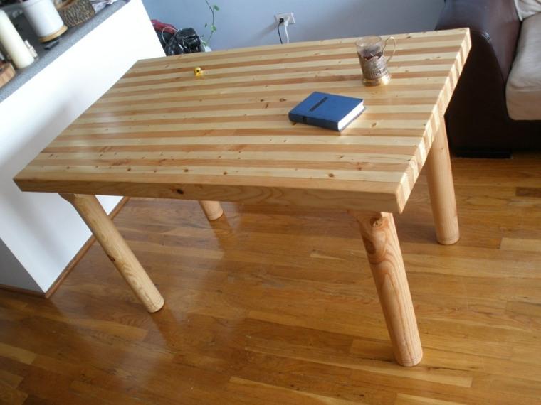 mesas de madera acento rustico comedor diseno simple ideas