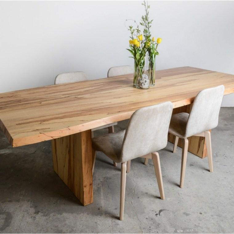 Mesas de madera un acento r stico para el comedor for Mesa bar de madera