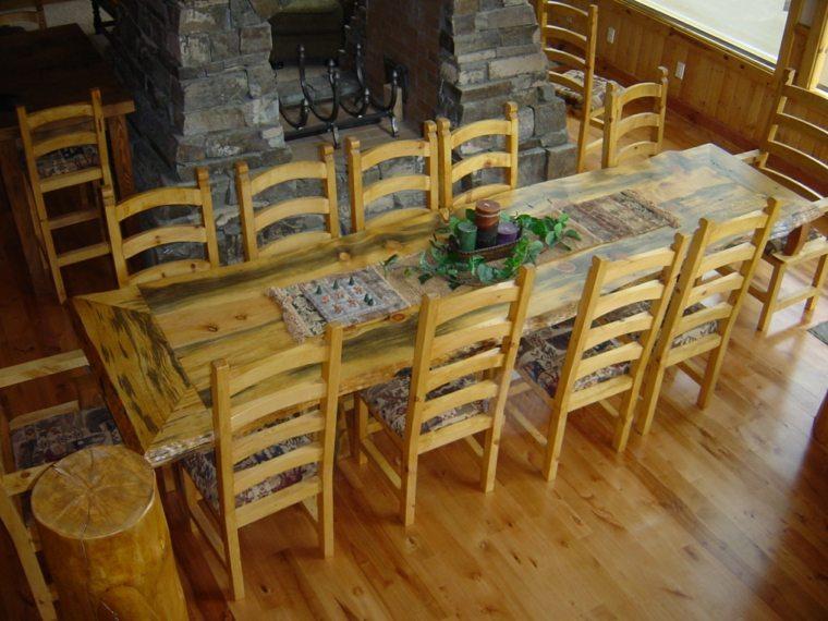 mesas-de-madera-acento-rustico-comedor-larga-muchas-personas