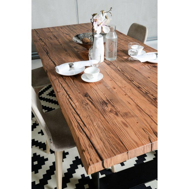 Mesas de madera un acento r stico para el comedor for Cosas con madera reciclada
