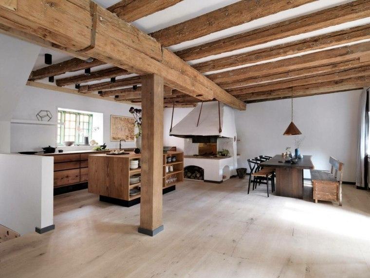 mesas madera acento rustico comedor roble opciones ideas