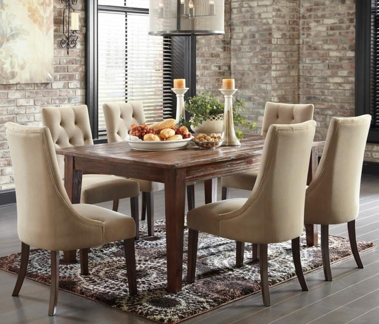 Mesas de madera un acento r stico para el comedor for Sillas de madera para comedor 2016