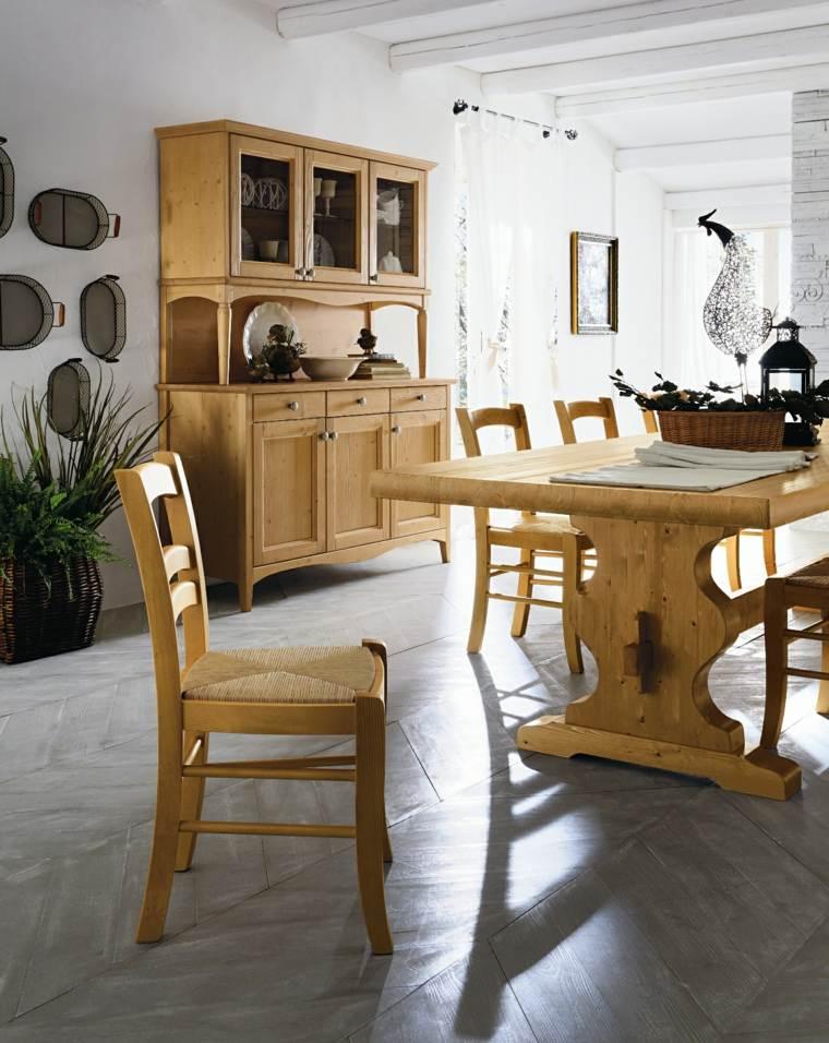 Mesas de madera un acento r stico para el comedor for Cocina comedor rustico