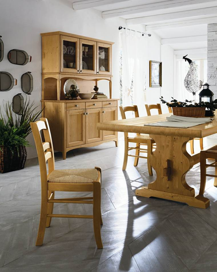 mesas madera acento rustico comedor muebles comedor ideas