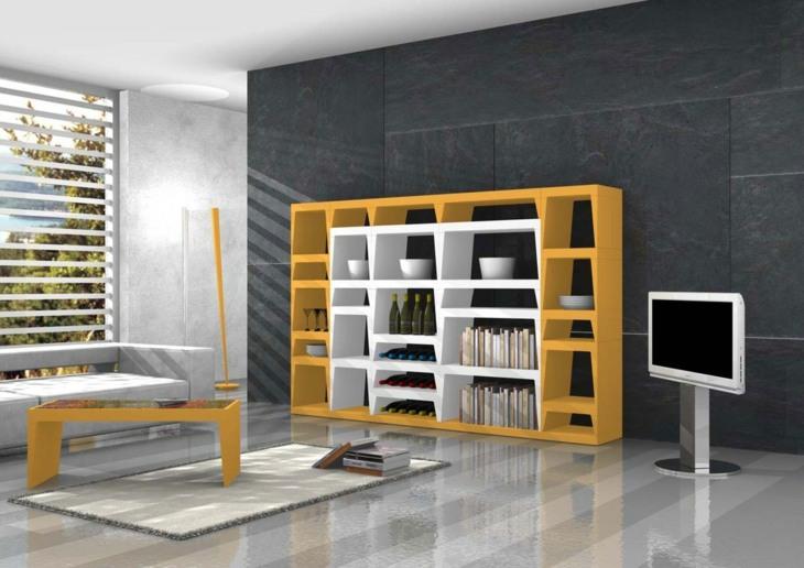 mobiliario modular especiales figuras amarillo