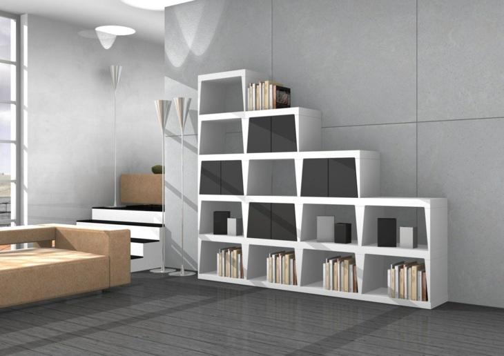mobiliario modular librero salas diseño