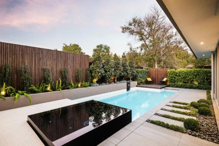 moderna patio color funciones rocas espacio