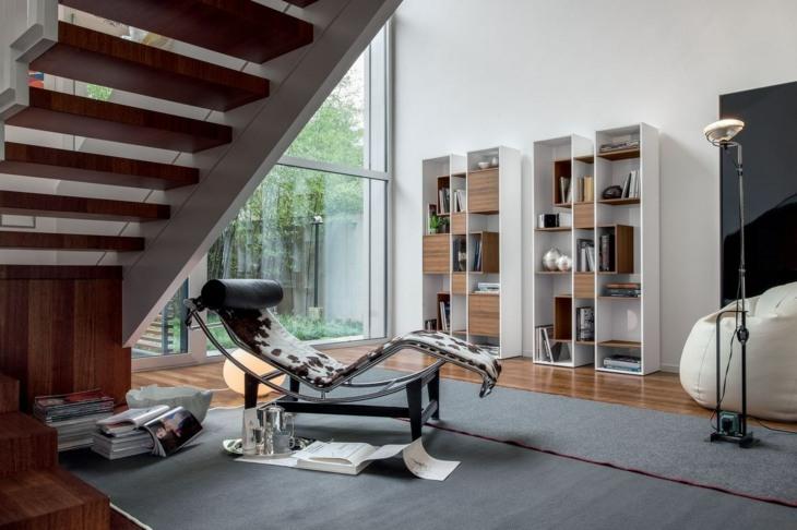 modernos estantes libreros salas lados