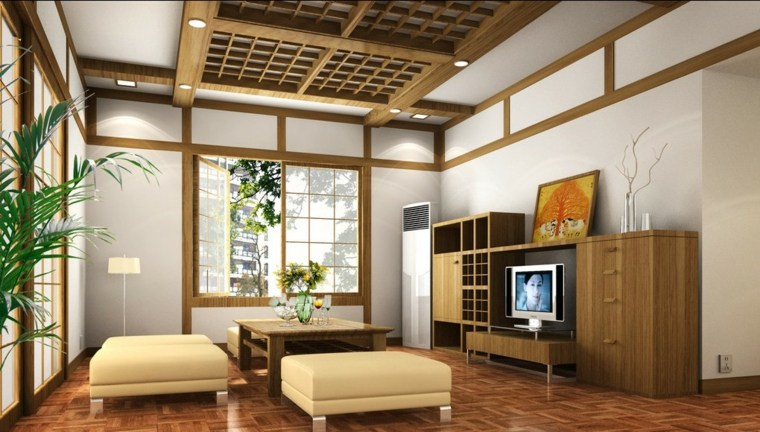 molduras de madera para techos salón