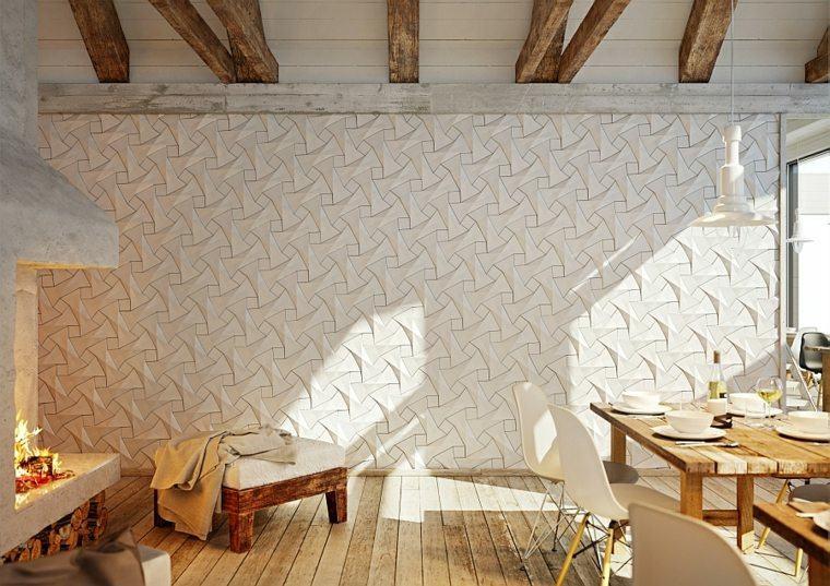 Decoraci n de paredes ideas de paneles y losas 3d for Losas de pared