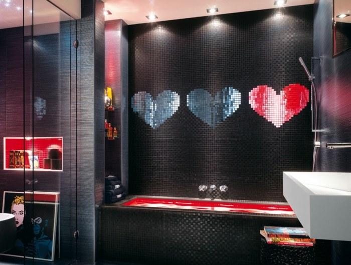 mosaicos colores corazones efectos cuadros