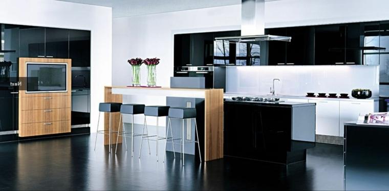 mueble para la cocina negro