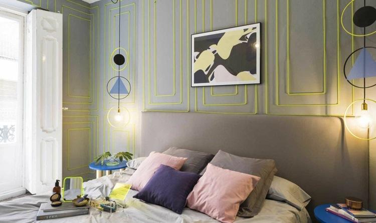 muebles estilo verdes contrastes iluminacion