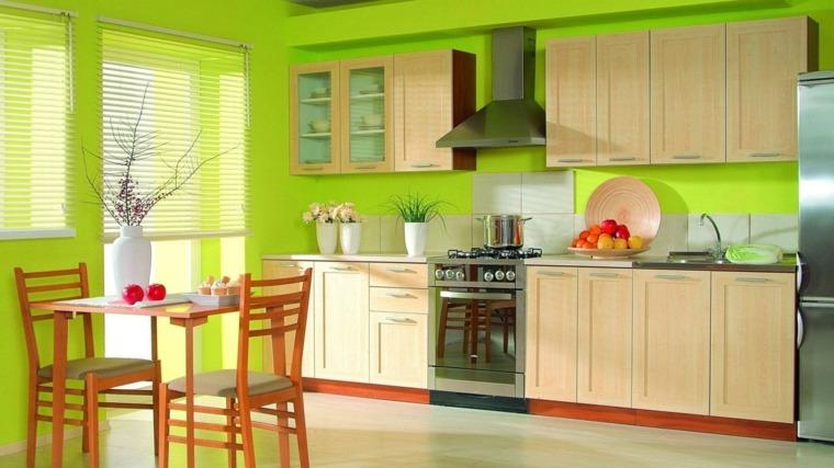 muebles para la cocina colores