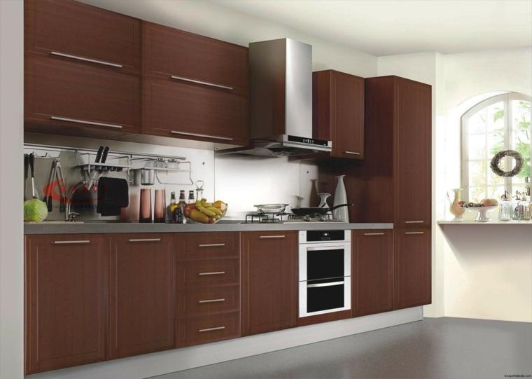 Muebles para la cocina colores y formas for Muebles de cocina de madera modernos